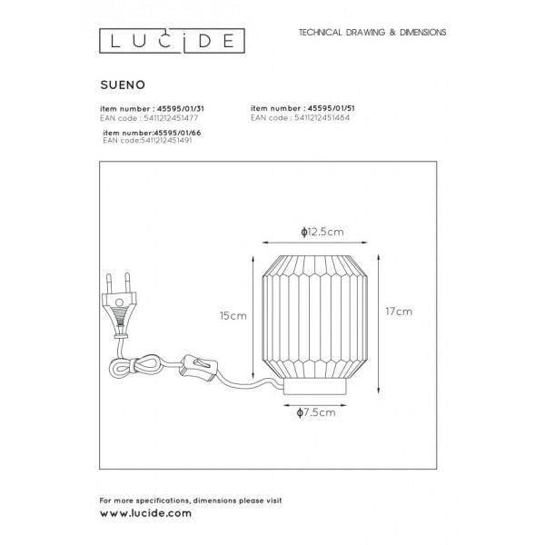 Lucide SUENO Stołowa Biały 1xE14 Styl Klasyczny 45595/01/31