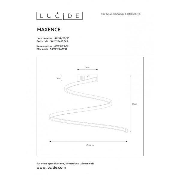 Lucide MAXENCE Sufitowa Natynkowa Biały 1xLED Styl Nowoczesny 46199/25/31