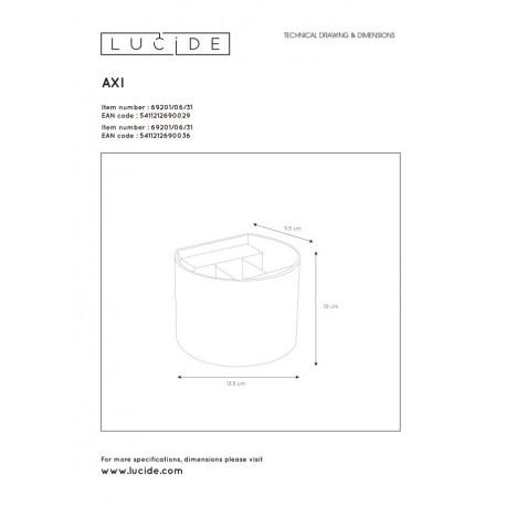 Lucide AXI Ścienna Kierunkowa Czarny 1xLED Styl Nowoczesny 5469201/06/30