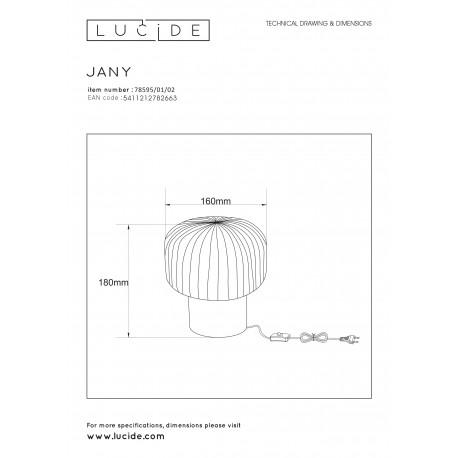 Lucide JANY Stołowa Złoty Matowy/Mosiądz 1xE14 Styl Retro 78595/01/02