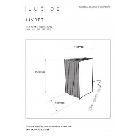 Lucide EXTRAVAGANZA LIVRET Stołowa Czarny 1xE14 Styl Retro 78596/01/30