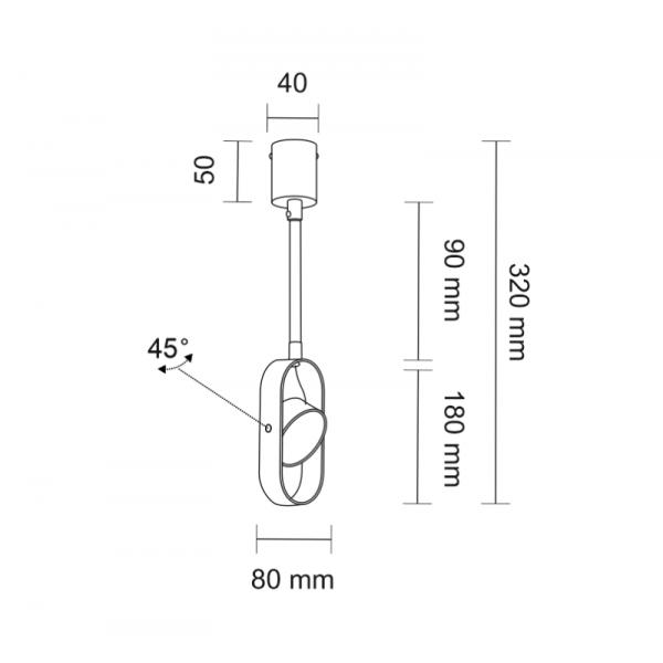 Shilo FUROKU LED 6W 600lm CRI90 czarny reflektor 7892