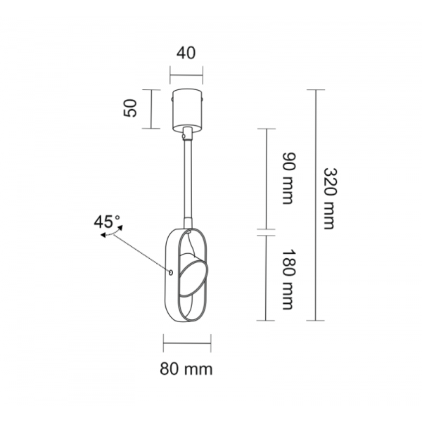 Shilo FUROKU LED 6W 600lm CRI90 biały reflektor 7893