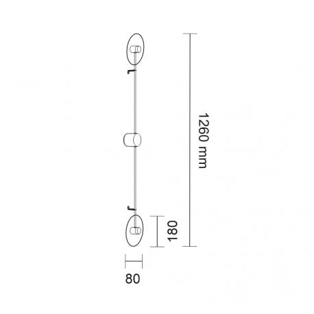 Shilo FURANO 2xLED 6W 600lm czarny kinkiet 7816