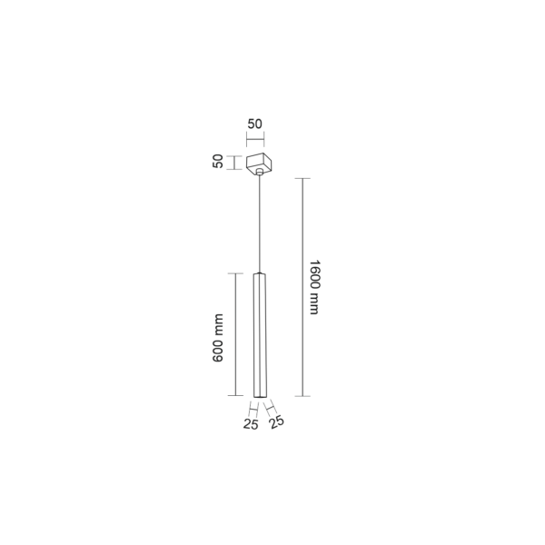Shilo AOMORI 1xG9 biały wisząca 7987