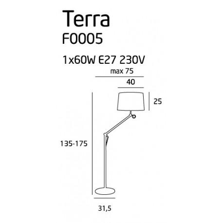 MAXlight TERRA SMALL F0005 Podłogowa