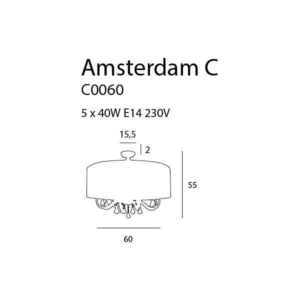 MAXlight AMSTERDAM C0060 Sufitowa