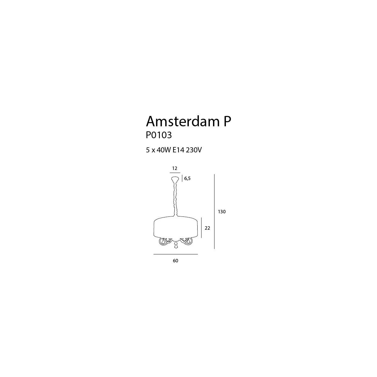 MAXlight AMSTERDAM P0103 Wisząca