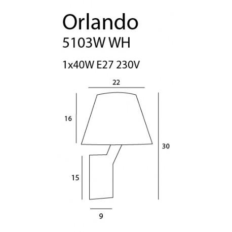 MAXlight Orlando Biały Kinkiet 5103W/WH CR