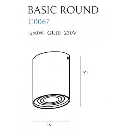 MAXlight BASIC ROUND Biały C0067 Sufitowa