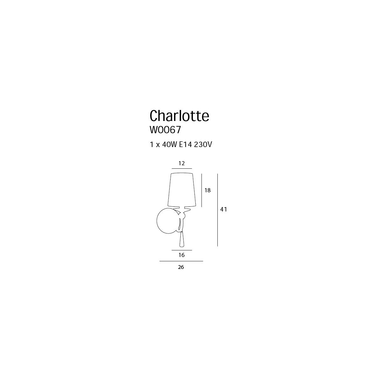 MAXlight CHARTLOTTE W0067 Ścienna