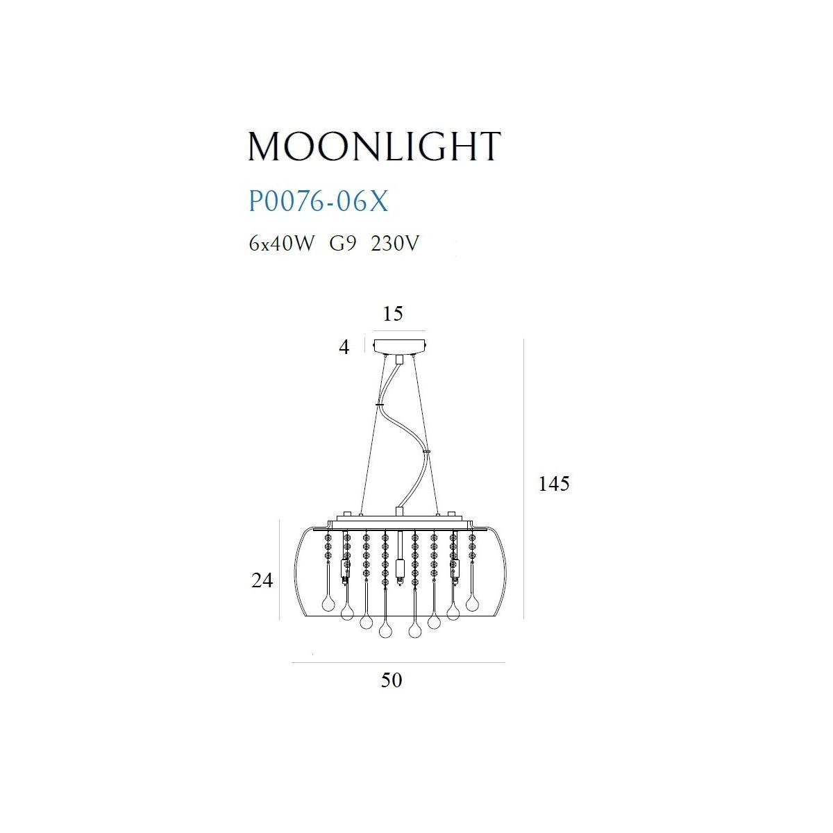 MAXlight MOONLIGHT Duża P0076-06X Wisząca