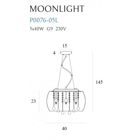 MAXlight MOONLIGHT Mała P0076-05L Wisząca