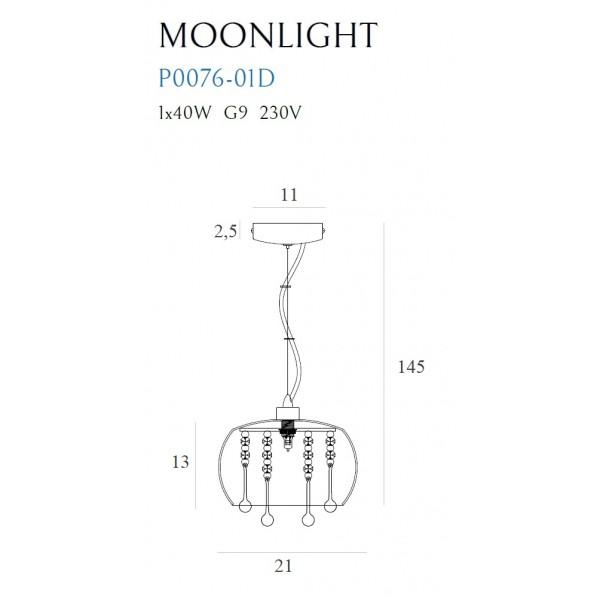 MAXlight MOONLIGHT mini P0076-01D Wisząca