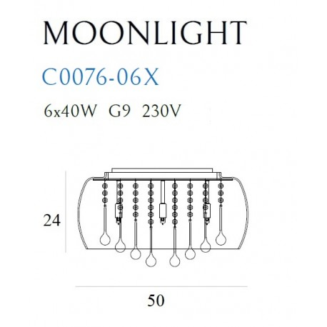 MAXlight MOONLIGHT C0076-06X Plafon