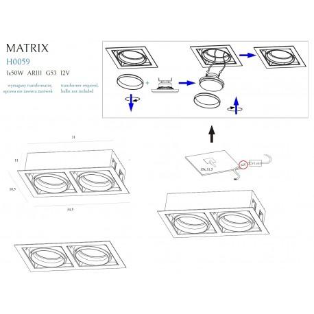 MAXlight MATRIX II H0049 Oprawa Halogenowa