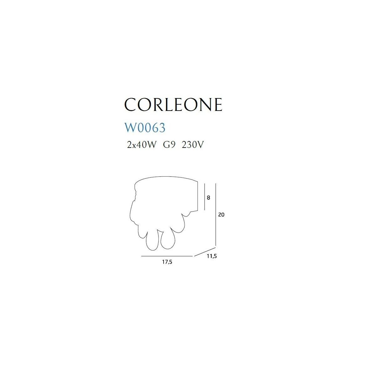 MAXlight CORLEONE W0063 Ścienna