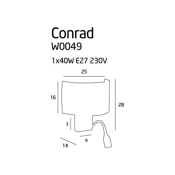 MAXlight CONRAD W0049 Ścienna