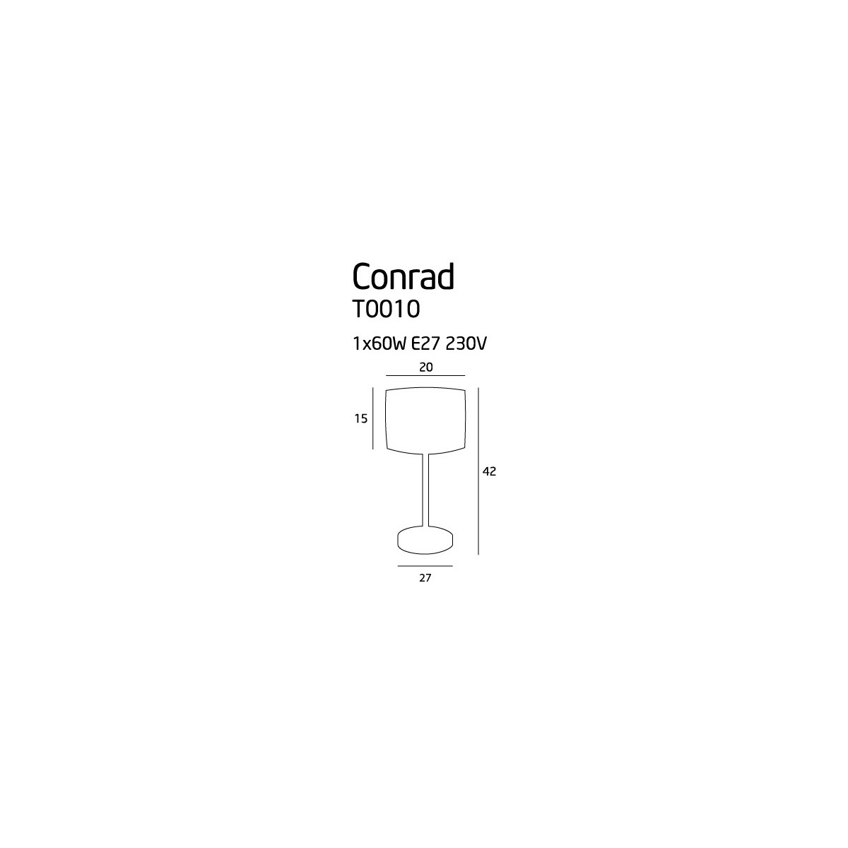MAXlight CONRAD T0010 Stołowa