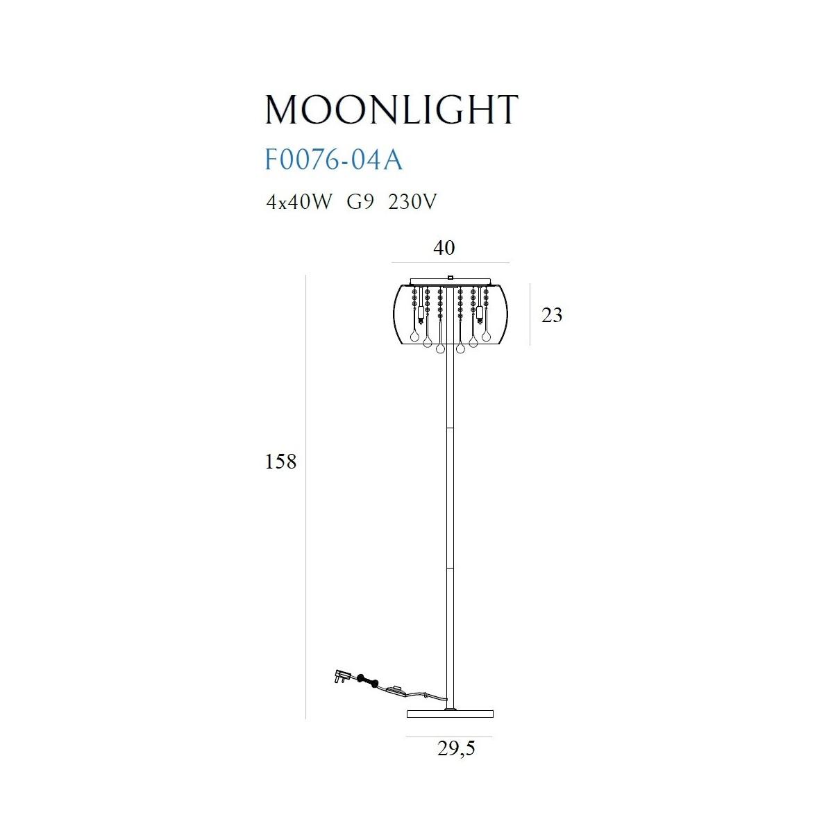 MAXlight MOONLIGHT F0076-04A Stojąca