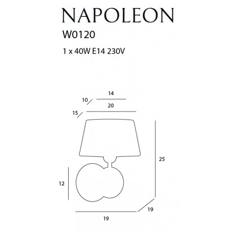 MAXlight NAPOLEON W0120 Ścienna