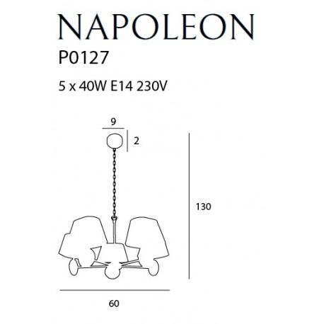 MAXlight NAPOLEON P0127 Żyrandol