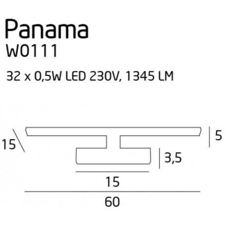 MAXlight PANAMA L W0111 Ścienna