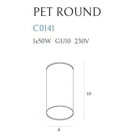 MAXlight PET ROUND Biały C0141 Sufitowa