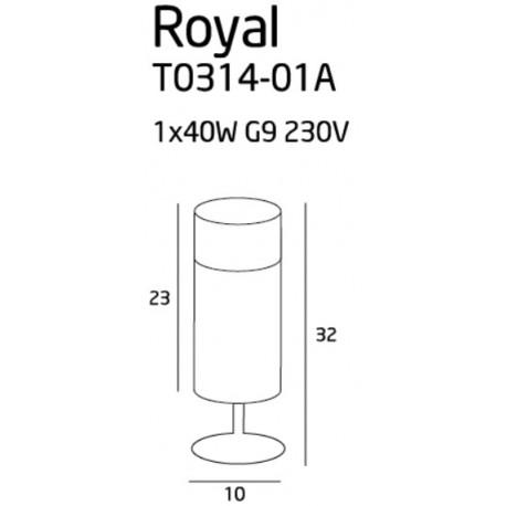MAXlight ROYAL T0314-01A Biurkowa