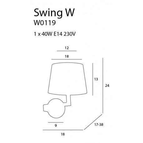 MAXlight SWING W0119 Ścienna