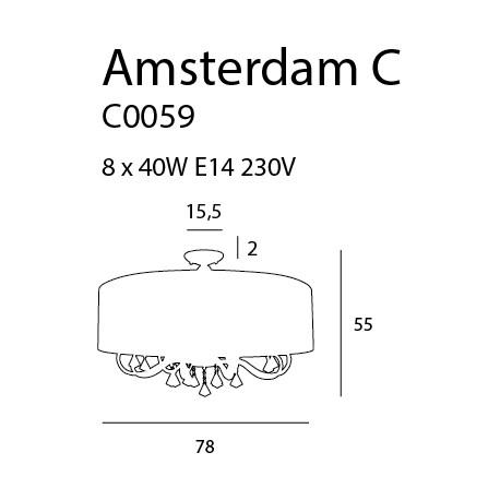 MAXlight AMSTERDAM C0059 Sufitowa