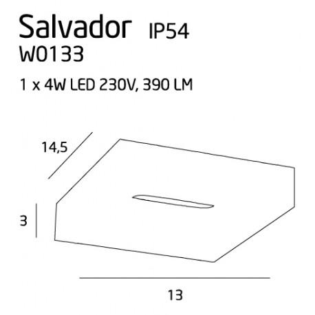 MAXlight SALVADOR IP54 W0133 Kinkiet