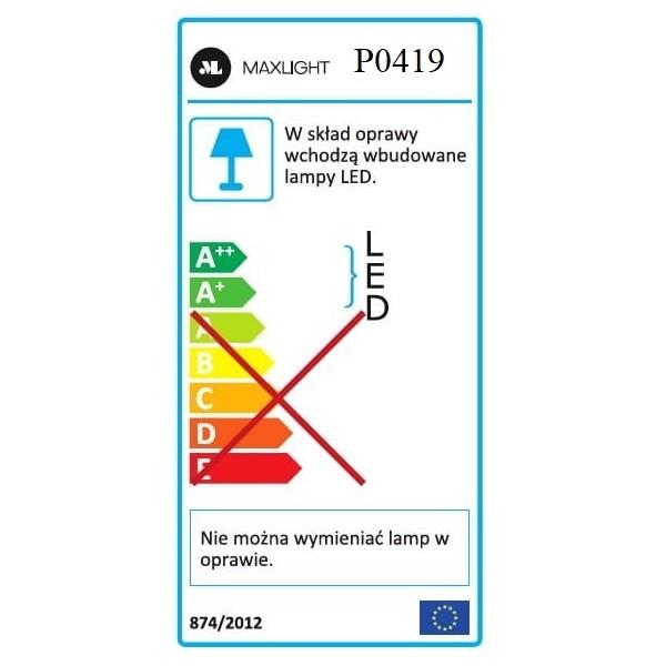 MAXlight Organic LED 33x1W 4x3W LED 230V 2200lm 3000K czarny wisząca P0419