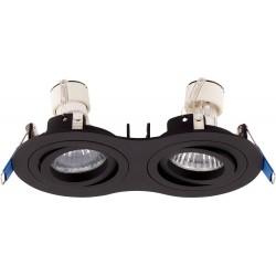 MAXlight Signal II 2xGU10 Oprawa Podtynkowa Czarna H0087