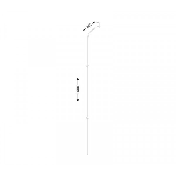 Shilo SAKATA LED 6W 600lm CRI90 biały kinkiet 7825