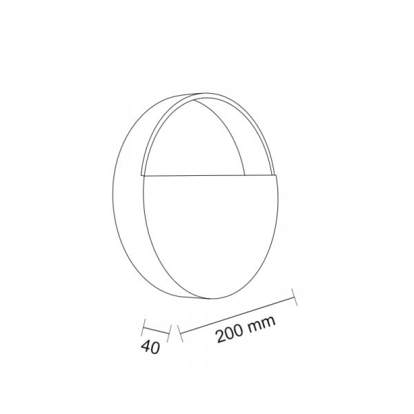Shilo OMONO LED 6W 600lm CRI90 czarny kinkiet 7916