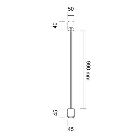 Shilo SAKATA LED 6W 600lm CRI90 czarny wisząca 7832