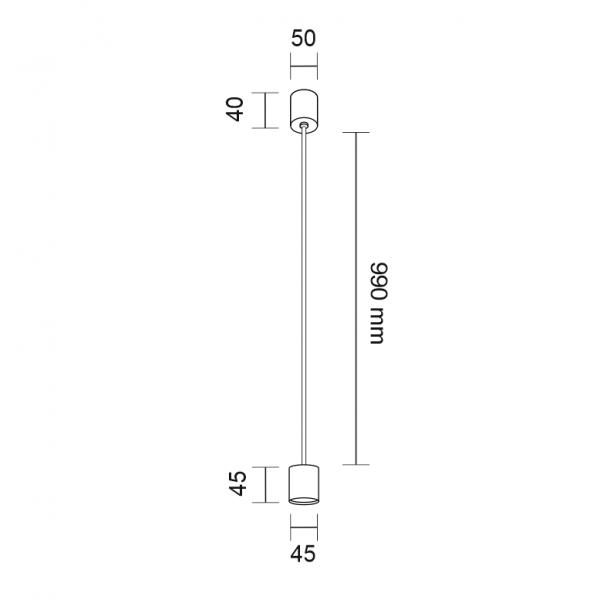Shilo SAKATA LED 6W 600lm CRI90 biały wisząca 7833