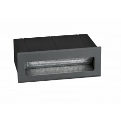 Luces Exclusivas TARTAGAL Zewnętrzna Ścienna LED 3W 270lm 3000K ciemnoszary IP54 LE71447