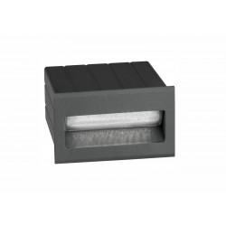 Luces Exclusivas TARTAGAL Zewnętrzna Ścienna LED 1.5W 145lm 3000K ciemnoszary IP54 LE71449