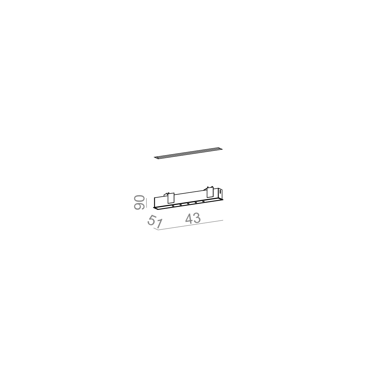 AQFORM LENS LINE 43 LED wpuszczana LL0013