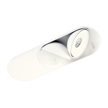 Azzardo TORONTO 2 WH LED 2x10W 2x680lm 3000K Wpust Wychylna Biały AZ4072