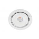 Azzardo TORONTO 1 SPOT WH LED 15W 810lm 3000K Wpust Wychylna Biały AZ4071