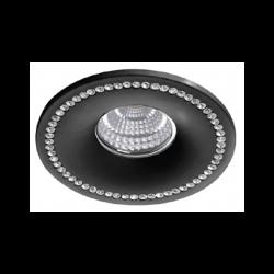Azzardo SIMON ROUND BLACK 1xGU10 Wpuszczana Czarny AZ1613