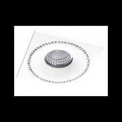 AZzardo SIMON S Biały/Aluminium NC1767SQ-W IP20 Wpust