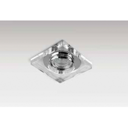 Azzardo VEKTOR SQUARE 1xGU10 Wpuszczana Przeźroczysty AZ1495