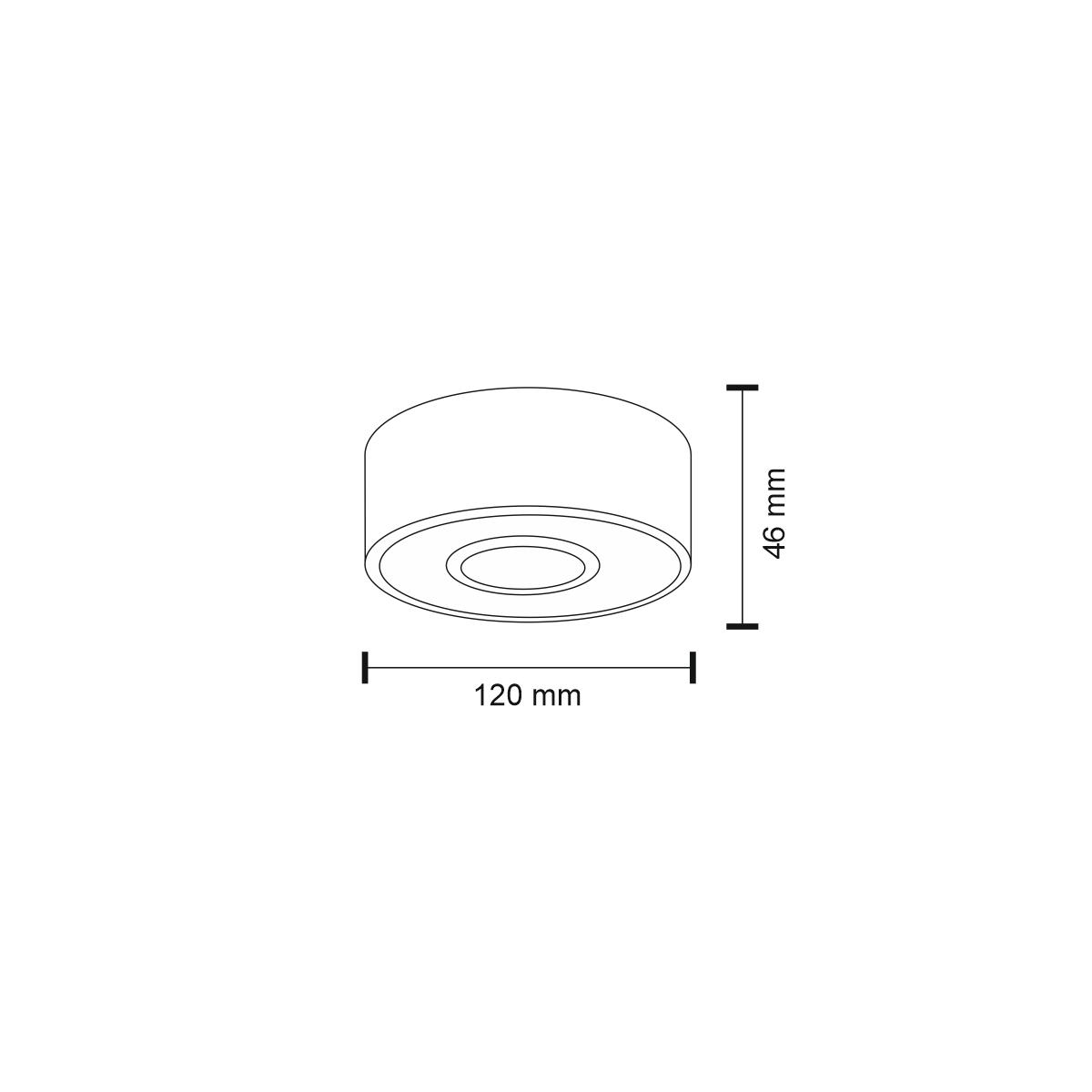 Shilo ENA IL LED 10W 1200lm CRI90 czarny natynkowa 1234