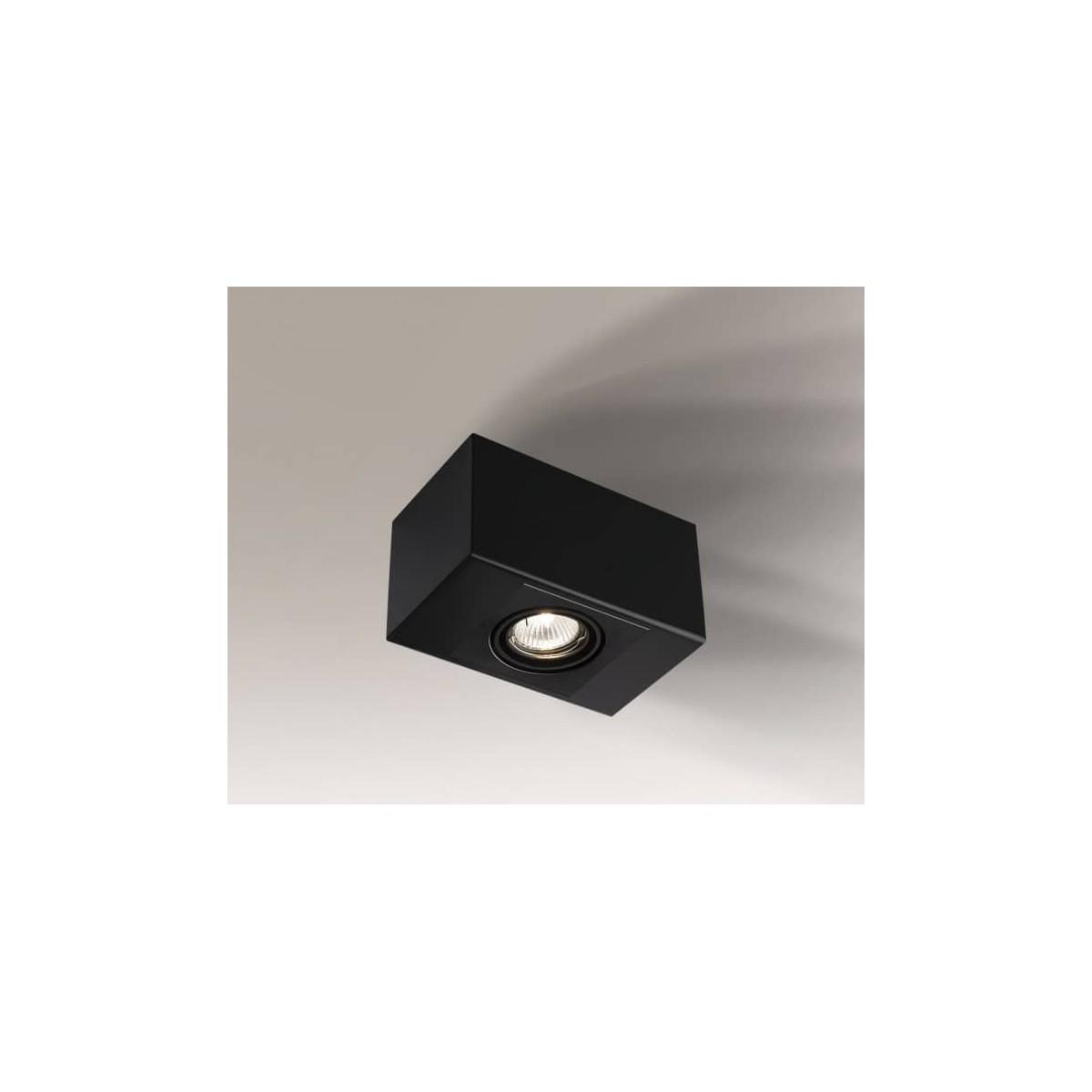 Shilo SETO H 1xGU10 czarny natynkowa 1214