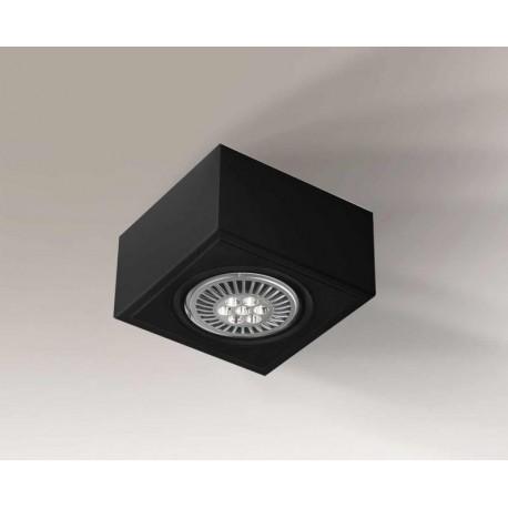 Shilo UTO H 1xES111 230V czarny natynkowa 1217