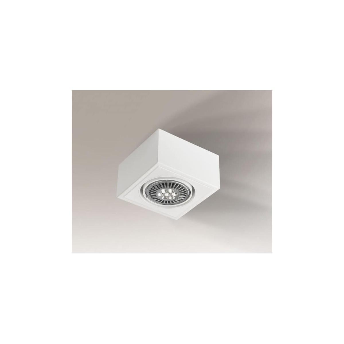 Shilo UTO H 1xES111 230V biały natynkowa 7094